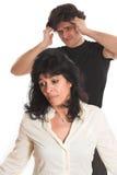 Portrait of couple arguing Stock Photos