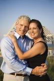 Portrait of Couple on Beach Stock Photo