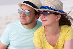 Portrait of a couple at beach Stock Image