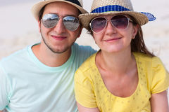Portrait of a couple at beach Royalty Free Stock Image
