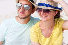 Portrait of a couple at beach Royalty Free Stock Images