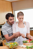 Portrait of a couple cooking Stock Photo