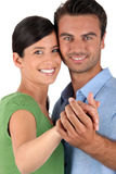 Portrait of a couple dancing Royalty Free Stock Image