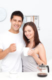 Portrait of a couple drinking coffee Royalty Free Stock Photography