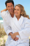 Portrait of couple on dunes Stock Photo