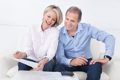 Portrait of a couple enjoying success Royalty Free Stock Photos