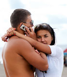 Portrait of couple enjoying vacations Stock Photo