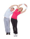Portrait of couple exercising Royalty Free Stock Image