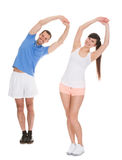 Portrait Of Couple Exercising Stock Photos