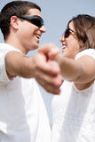 Portrait of couple holding hands Stock Image