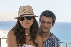 Portrait of couple on holiday Royalty Free Stock Image