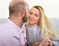 Portrait couple in home Royalty Free Stock Image
