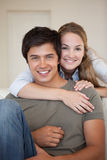 Portrait of a couple hugging Stock Photo