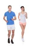 Portrait Of Couple Jogging Stock Photo