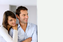 Portrait of couple looking away Stock Images
