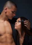 Portrait of couple looking on each other royalty free stock photo