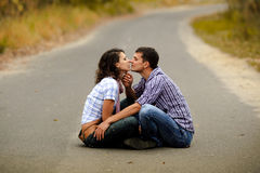 Portrait of a couple in love Royalty Free Stock Photo