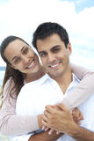 Portrait of a couple in love on the beach Royalty Free Stock Photos