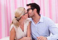 Portrait of a lovely couple Stock Photography