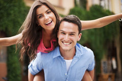 Portrait of couple in love royalty free stock photo