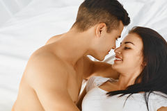 Portrait of couple loving each other. Royalty Free Stock Photography