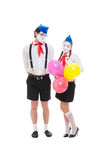 Portrait of couple mimes Royalty Free Stock Photos