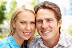Portrait couple outdoors Stock Photos