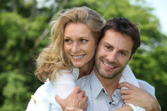 Portrait of a couple outdoors. Portrait of a happy couple outdoors Royalty Free Stock Image