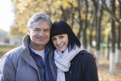 Portrait Of Couple In Park Stock Image