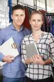 Portrait Of Couple Running On Line Fashion Business Royalty Free Stock Photo