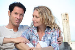 Portrait of a couple Stock Photography