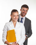 Portrait of a couple of successful young managers Royalty Free Stock Photos