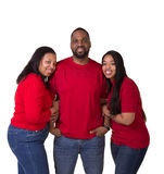 Portrait of a couple and their grown daughter Stock Photo