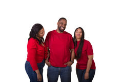 Portrait of a couple and their grown daughter Royalty Free Stock Photography