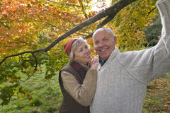 Portrait of couple in woods Royalty Free Stock Photos