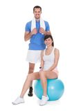 Portrait of couple working out Stock Photography