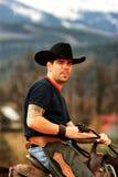 Portrait of a cowboy Stock Photos