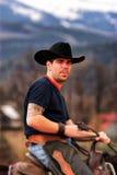 Portrait of a cowboy Stock Images