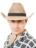 Portrait of a cowboy Stock Photo