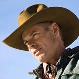 Portrait of cowboy. Stock Photo