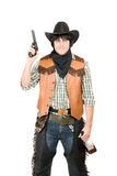 Portrait of cowboy with a gun Royalty Free Stock Images
