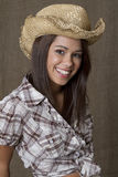 Portrait of a cowgirl Royalty Free Stock Image