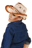 Portrait of cowgirl. Stock Photography