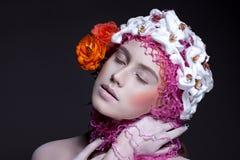 Portrait créatif d'une belle fille Photographie stock libre de droits