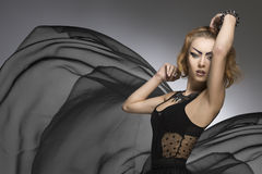Portrait créatif de mode de dame gothique Image libre de droits