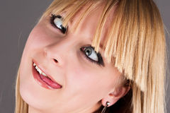 Crazy blond girl Stock Photography