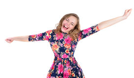 Portrait of crazy young woman royalty free stock image