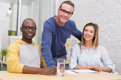 Portrait of creative business people in meeting Royalty Free Stock Images