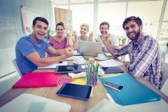 Portrait of creative business people in meeting Royalty Free Stock Image