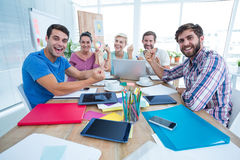 Portrait of creative business people in meeting Royalty Free Stock Photo